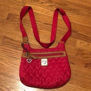 Brighton red quilted crossbody